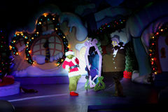 The Grinch Who Stole Christmas at Universal Studios. A live performance of the Grinch Who Stole Christmas at Universal Studios in Orlando, Florida Royalty Free Stock Images