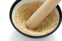 Grind sesame Stock Photos