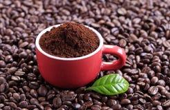 grinded的咖啡 免版税库存图片