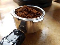 grinded的碾碎的咖啡 免版税库存照片