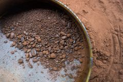 Grinded coffee grains. royalty free stock photography
