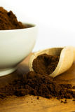 Grinded coffee Royalty Free Stock Image