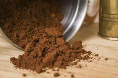 grinded kaffe Royaltyfri Fotografi