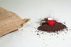 Grinded Kaffee lizenzfreie stockfotografie