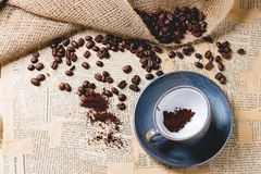 Grinded Kaffee Lizenzfreies Stockfoto