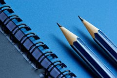 Grinded pencils Royalty Free Stock Image