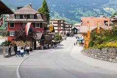 grindelwald瑞士 少女峰,全景 库存照片