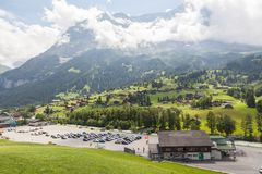 grindelwald瑞士 少女峰,全景 库存图片