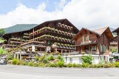 grindelwald瑞士 少女峰,全景 免版税图库摄影
