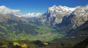 Grindelwald dal Royaltyfria Bilder