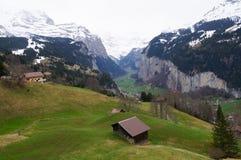 Grindelwald-Dorf in Berner Oberland, die Schweiz Lizenzfreie Stockfotos