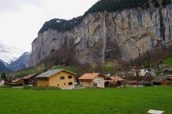 Grindelwald-Dorf in der Schweiz Stockfotografie