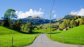 Grindelwald-Dorf die Schweiz Stockbilder