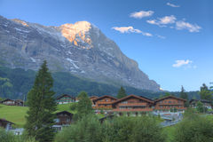 Grindelwald e montanha Eiger, Fotografia de Stock Royalty Free