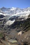 Grindelwald glacier and Fiescherhorn Stock Image