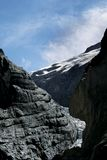 Grindelwald Glacier in Switzerland Alps Stock Photo