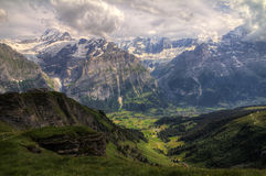 Grindelwald HDR Royalty-vrije Stock Foto