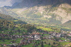 Grindelwald with mount Eiger, Switzerland Stock Photo