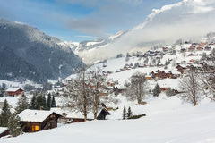 Grindelwald nell'inverno Immagini Stock