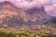 Grindelwald at sunset, Switzerland Stock Images