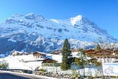 Grindelwald, Svizzera - 29 aprile 2017: Le alpi di Bernese con Fotografia Stock Libera da Diritti