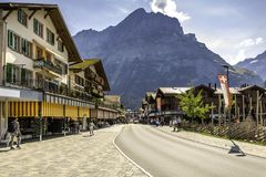 Grindelwald in the Swiss Alps stock photo