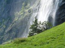 Grindelwald switzerland Cachoeira na paisagem alpina foto de stock