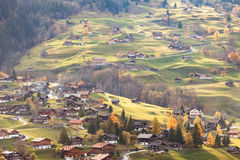 Grindelwald Switzerland in sunset time. Royalty Free Stock Photo