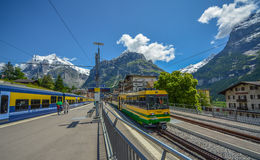 Grindelwald train station, Switzerland Stock Photography