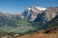 Grindelwald Valley Stock Images