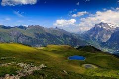 Grindelwald valley from Mannlichen Stock Photo