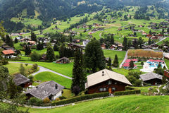 Grindelwald Village in Berner Oberland Royalty Free Stock Photography