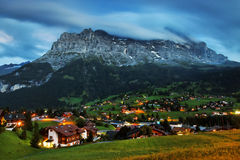 Grindelwald Village in Berner Oberland Stock Photography