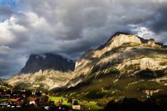 Grindelwald Village in Berner Oberland Stock Photo