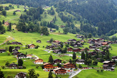 Grindelwald Village in Berner Oberland. Switzerland, Europe Royalty Free Stock Photos