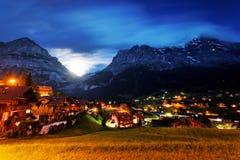 Grindelwald Village in Berner Oberland Royalty Free Stock Image