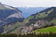 Grindelwald Village in Berner Oberland , Switzerland Stock Images