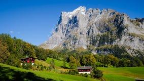 Grindelwald village Switzerland. Mountains around Grindelwald village Switzerland Royalty Free Stock Photography