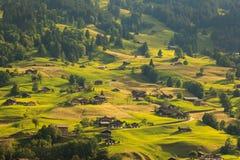 Grindelwald Village. View of the Village at Grindelwald, Switzerland Stock Photo