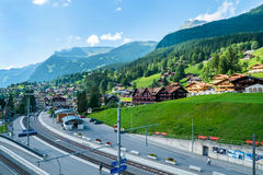 Grindelwald wioska fotografia stock