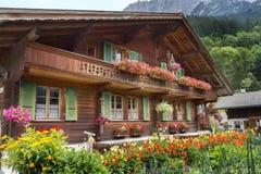 Grindelwalddorp in Zwitserland Royalty-vrije Stock Afbeeldingen