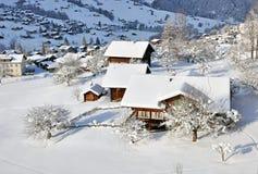 Grindenwald Schweiz i vinter Royaltyfri Fotografi