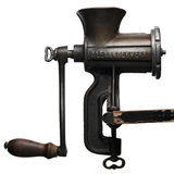 Grinder. Meat grinder against white background Stock Photos