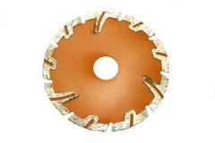 Grinder blade. Angle grinder cut-off blade over white background Royalty Free Stock Images