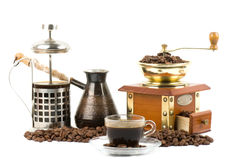 Grinder and coffe Stock Photo
