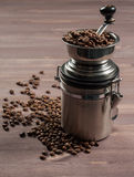 Grinder and coffee Royalty Free Stock Images