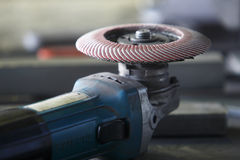 A grinder on a factory table Royalty Free Stock Photography