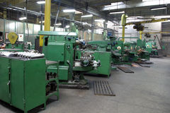Grinder hall. Empty grinder hall from a factory Stock Photo