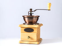 Grinder II. Decorative wooden grinder roasted coffee Royalty Free Stock Images