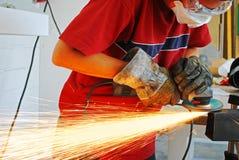 Grinder metal worker Stock Images